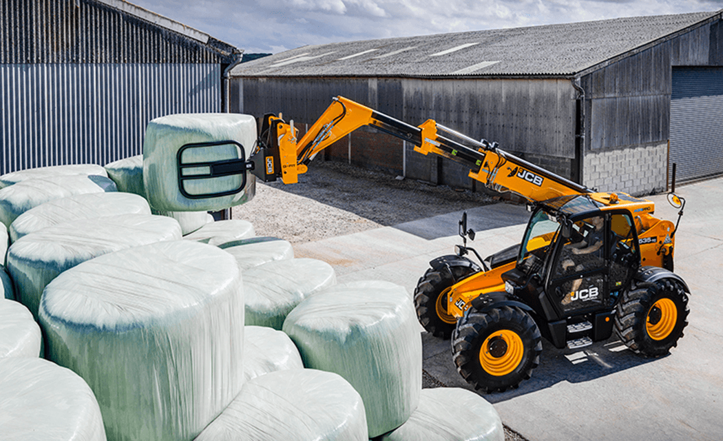 JCB BALE SPIKE AND GRAB ATTACHMENTS ENSURE EFFICIENT HANDLING